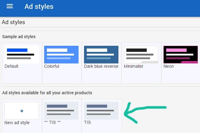 ad styles google adsense